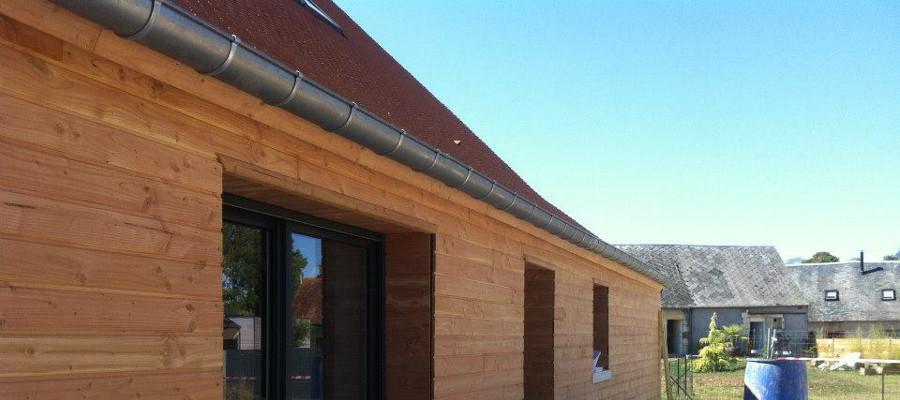 Maison neuve avec bardage bois for Bardage bois maison ancienne