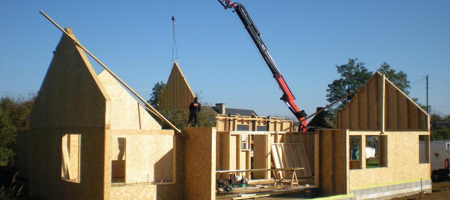 Levage ossature bois for Construction bois 35